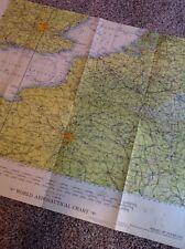 Antique Vintage USAF Air Force Aeronautical Chart  Map 1956 Strait Dover France