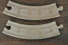 THOMAS TANK ENGINE WOODEN RAILWAY - 2 curve track pieces - Like NEW