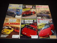 1990-1996 MOTOR TREND MAGAZINE LOT OF 15 ISSUES - AUTOMOBILE CAR COVERS - M 378