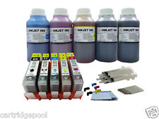 Refillable ink cartridge with chip for HP 564 XL OfficeJet 7510 7515 +5x250ml 1P