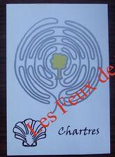 Carte postale Chartres , Compostelle,labyrinthe  ,Marc Ledogar CPSM