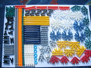 KNEX Assortment of K'nex - 124 pieces - You will get all you see in the picture.