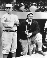 New York Giants CHRISTY MATHEWSON & JOHN MCGRAW Glossy 8x10 Photo Baseball Print