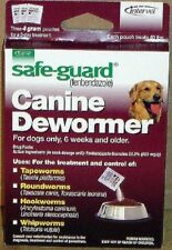 Safe-Guard® Canine Dewormer 4 g 40 lb Dog Tape, Round, Hook and Whip Worms