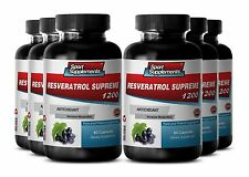 Resveratrol Supreme 1200mg - All Natural Antioxidant & Anti-Inflammatory Caps 6B