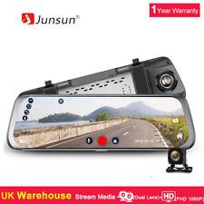 10'' Junsun Stream Media Dual Lens FHD 1080p Dash Cam Car DVR Rearview Mirror