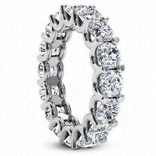 6.00 carat 18k white gold diamond eternity wedding band G Si1 #213