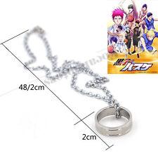 Kuroko No Basketball Basuke Ring Necklace Anime Cosplay Stainless Steel Silver
