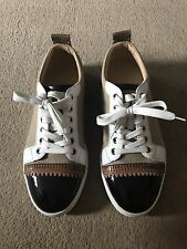 christian louboutin mens Canvas Trainers Eu 40 Uk 6 Brown Black