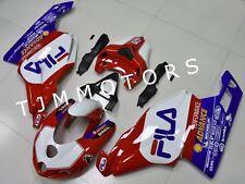 For Ducati 749 999 2005 06 ABS Injection Mold Bodywork Fairing Kit Fila Red Blue