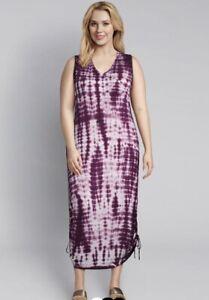 Details about  /Lane Bryant Women/'s Blue Black Sleeveless Maxi Dress Size 18//20 Layered Pleated