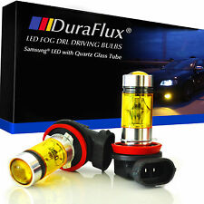 DuraFlux 100W H11 H8 LED Fog Driving Light Bulb Samsung 4300K Yellow Lamp 20-SMD