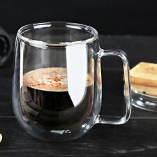 Transparent Double Layer Glass Heat Resistant Tea Coffee Mug Insulation Cup LM
