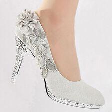Wedding Shoes - Bride / Bridal / Bridesmaid / Prom /  Shoes  White - Size 6 UK