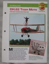 Aircraft of the World Card 11 , Group 15 - De Havilland DH.82 Tiger Moth