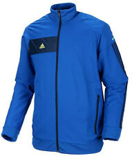 Mens Adidas Woven Sports Jacket Tracksuit Track Top Coat - Blue