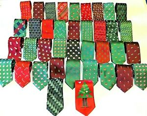 Mens Fun Novelty Christmas Ties Festive Neck Tie Xmas Dinner Party Accessories