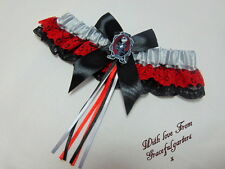 Jack nightmare before christmas Wedding garter. pumpkin king. jack skellington.