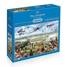 GIBSONS THE AIRSHOW 1000 PIECE JIGSAW PUZZLE - STEVE CRISP - VINTAGE AIRCRAFTS