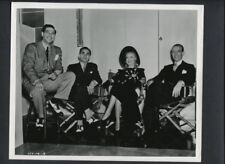 FRED ASTAIRE + GINGER ROGERS + IRVING BERLIN -1959 VINTAGE REPRINT OF 1938 PHOTO