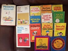 14 Vintage Peanuts Revisited Snoopy Comic Books , Happiness is Lot 1950's - 70's