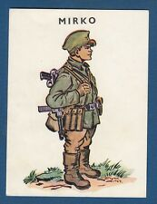 MIRKO (Mirko and Slavko ) WWII - Yugoslav Partisans, illustration, vintage card