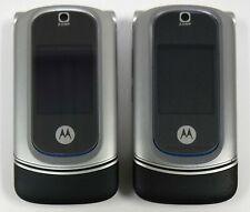 Lot of 2 - Motorola Razr Ve20 Vegas - Silver ( Alltel + nTelos ) Cellular Phones