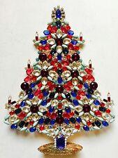 ALBERO di Natale Strass STAND ceco vintage estate gioielli fatti a mano
