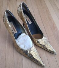 Steve Madden Mystikal Gold Sequin Stiletto 7.5