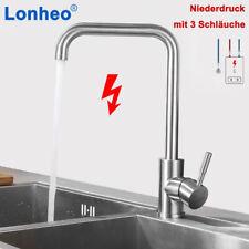 DE Niederdruck Küchenarmatur 360° Wasserhahn Einhand Spültischarmatur für Küche