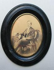 Portrait d'homme Photo primitive Avec son cadre d'origine Vintage ca 1855-60