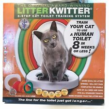 The Original Litter Kwitter 3-Step Cat Toilet Training System Brand New In Box