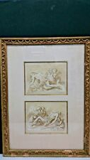 ANTIQUE TWO ENGRAVIED SIGNED BY ANTONIO DOMENICO GABBIANI FRAMED 1652 - 1726