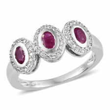 Ruby Ring in Platinum Over Sterling Silver (Size 8.0) 1.50 ct