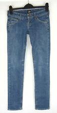 LEE LYNN NARROW Super Skinny Stretch Womens Blue Jeans Ultra Low Rise W25 L33