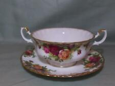 Royal Albert Old Country Roses Cream Soup Cup & Saucer (First Quality)