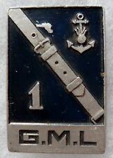 Insigne 1° GML TOULON Escadron Gendarmerie Maritime Légère 1941/1944 WWII Augis