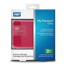 WD 2TB My Passport Ultra HDD WDBBKD0020BPK-NESN USB 3.0 Pink