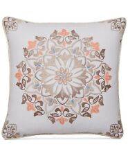 "Martha Stewart Collection Jardin Medallion 18"" Square Decorative Pillow"