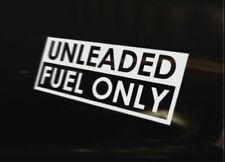 UNLEADED FUEL ONLY Petrol Car Van Bike Truck Vinyl Decal JDM DUB VAG EURO Drift