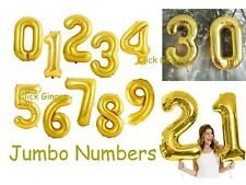 Gold Foil Numbers Balloons Helium Quality Jumbo Giant Number Balloon 21st 18th