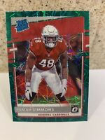 2020 Donruss Optic Isaiah Simmons Prizm Rated Rookie RC SP Green Velocity #199