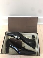 Louis Vuitton sz 38.5 US 8.5  Black shoes patent leather logo plaque Mary Jane