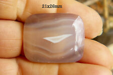 Scenic Banded Agate Rectangle Cabochon Tranclucient 21x26mm with rounded corners
