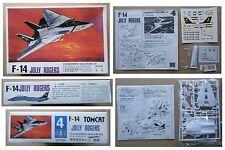 F-14 JOLLY ROGERS Jet Fighter NORTHROP model kit modellismo vintage Lee 1/144