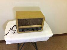 Vintage PHILCO Table Top TUBE RADIO Model E-976 Wood Tube Used Cool Item
