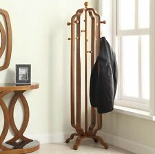 Vintage Coat Rack Free Standing Furniture Large Hallway Hooks Wooden Tree Stand