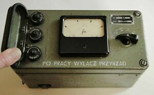 VINGATE 1960 MILITARY D08 D-08 GEIGER COUNTER RADIATION DETECTOR NOT TESTED
