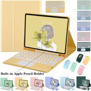 """Keyboard With Touchpad Mouse Case Cover For iPad 5th 6th 9.7"""" 7th 8th Gen 10.2"""""""
