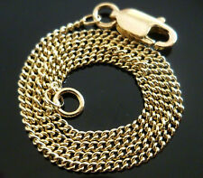 """9ct Solid Yellow Gold Curb Fine Chain Link Necklace - 56cm's 22""""  N5"""